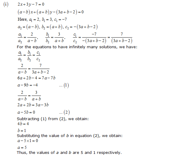 Chapter 3 Pairs of Linear Equations in Two Variables - NCERT