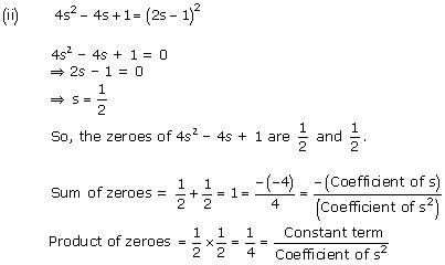 Chapter 2 Polynomials - NCERT Solutions for Class 10