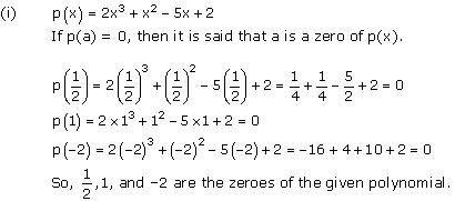 Chapter 2 Polynomials - NCERT Solutions for Class 10 Mathematics
