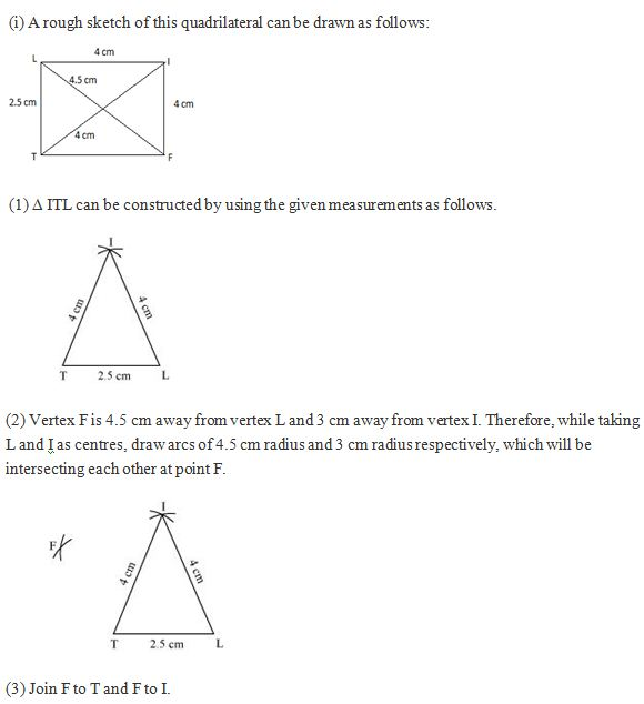 Chapter 4 Practical Geometry - NCERT Solutions for Class 8