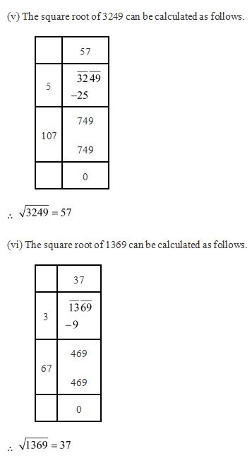 Chapter 6 Squares and Square Roots - NCERT Solutions for