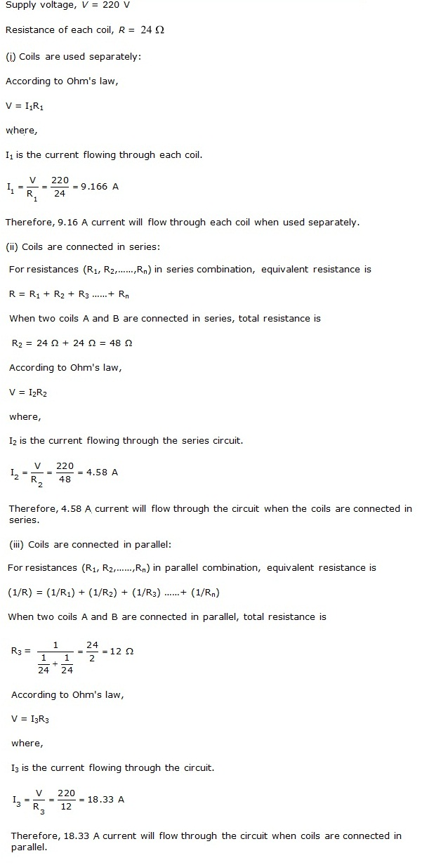 Chapter 12 Electricity - NCERT Solutions for Class 10