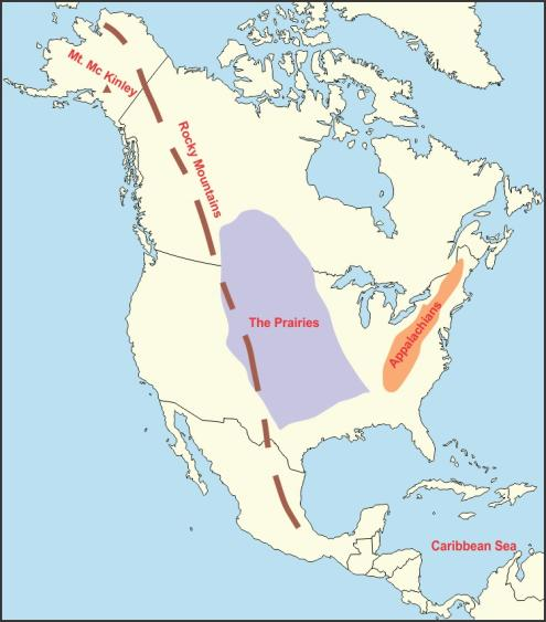 on an outline map of north america mark and label the following the ...