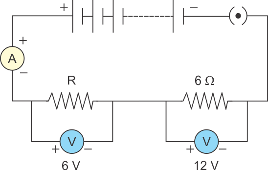 Ammeter Diagram Circuit | A Circuit Is Shown In The Diagram Given Below Find A The Value Of