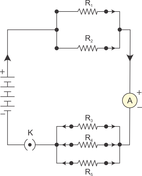 parallel combination of resistors r1 and r2 and that of r3 ...