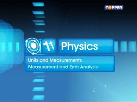 IIT JEE Video Solution for physics-and-measurement Physics