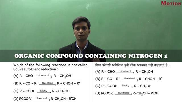 IIT JEE Chemistry - Organic Compounds Containing Nitrogen free Notes