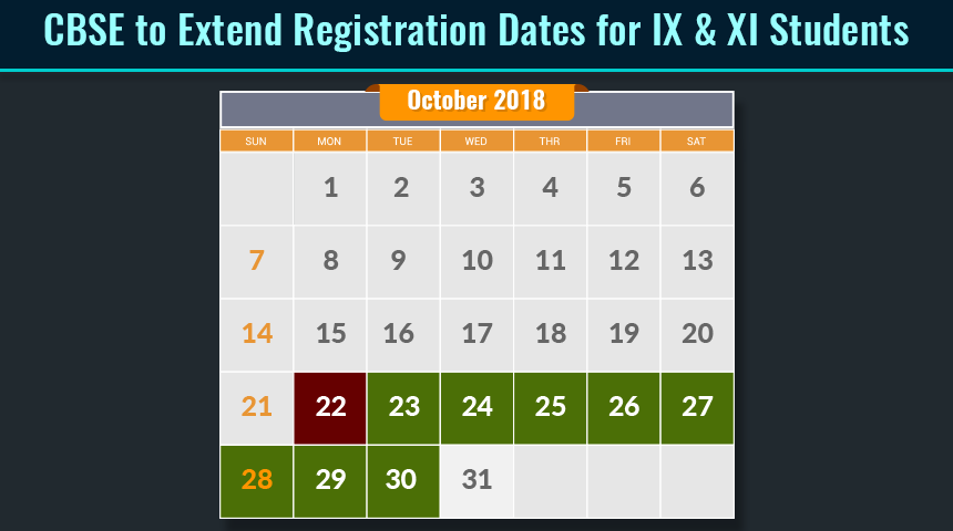 CBSE to extend registration dates for IX & XI students