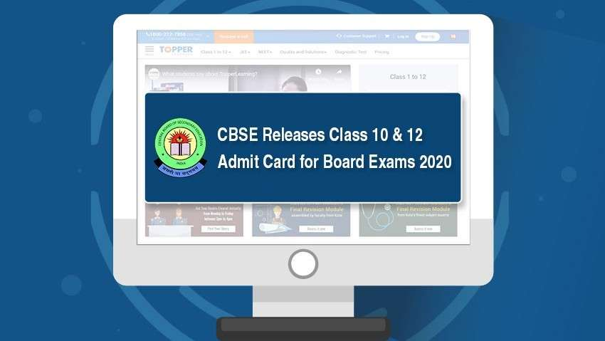 CBSE Releases Class 10 and 12 Admit Card for Board Exams 2020