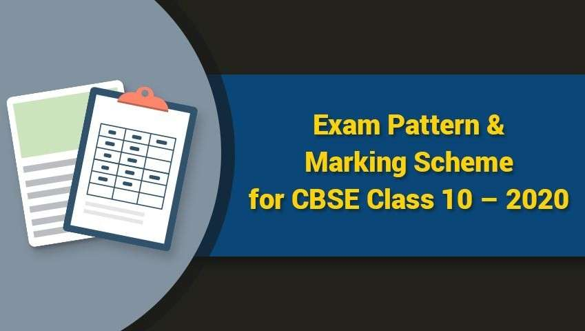 Exam Pattern and Marking Scheme for CBSE Class 10 - 2020