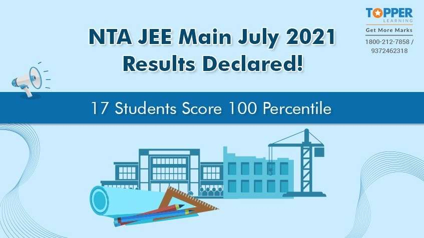 NTA JEE Main July 2021 Results Declared! 17 Students Score 100 Percentile