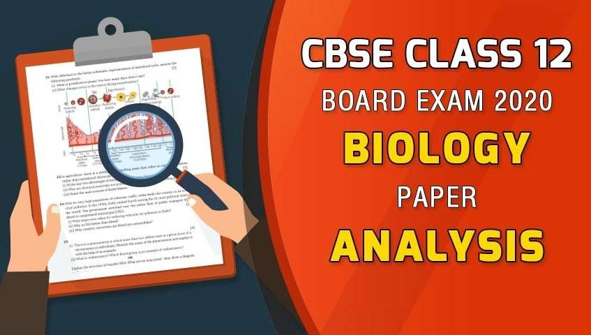 CBSE Class 12 Biology 2020 Exam Review and Analysis