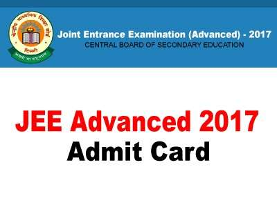 JEE Advanced 2017 Admit Card Available for Download