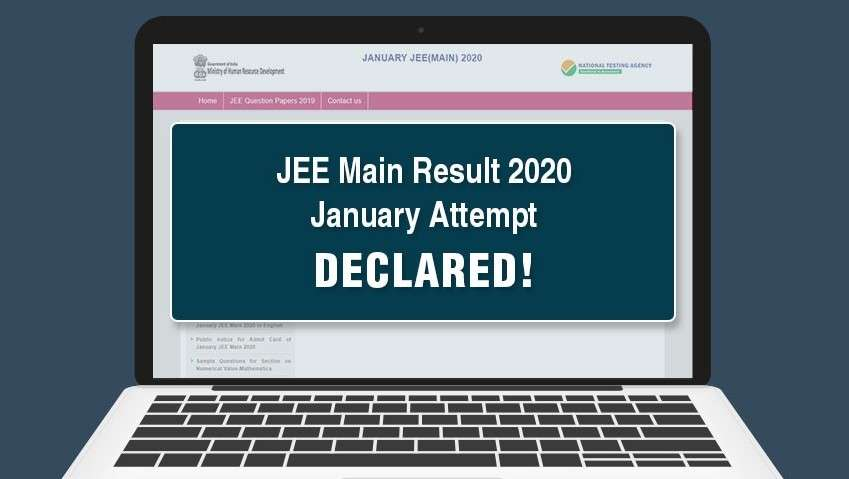 JEE Main Results 2020 January Attempt Declared!