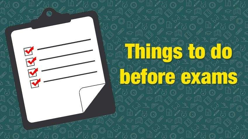 22 important things to keep in mind before an exam