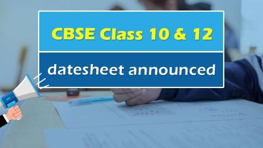 CBSE Class 10 and Class 12 2020 Date-sheet Announced