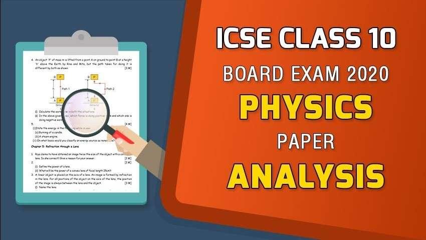 ICSE Class 10 Physics Board Paper Analysis - 2020