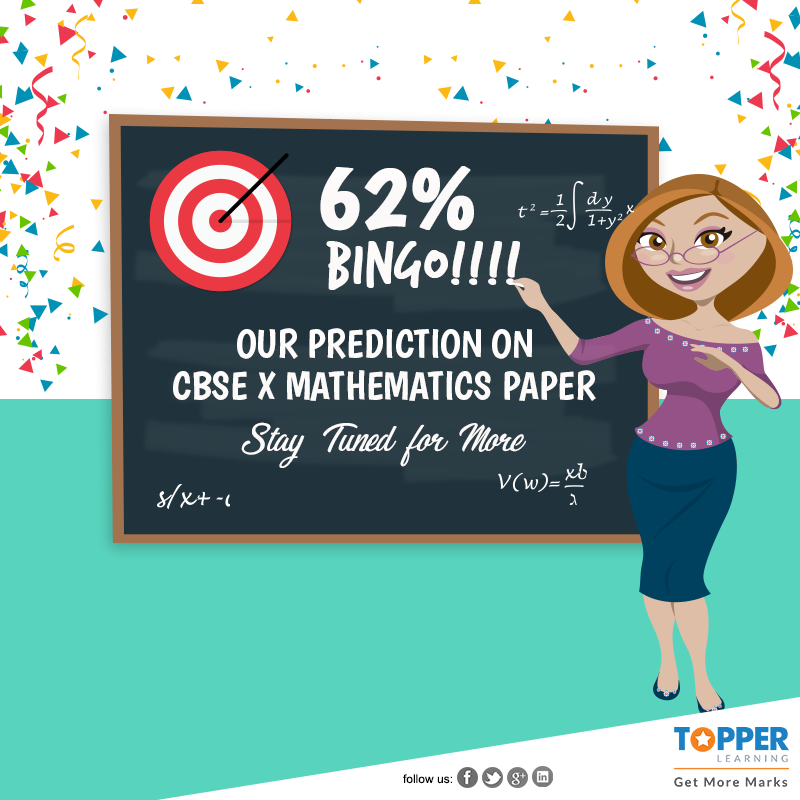 62% Question Match in Mathematics CBSE Class X Paper