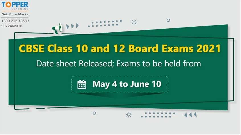 CBSE Class 10 and 12 Board Exams 2021 Date sheet Released; Exams to be held from May 4 to June 10