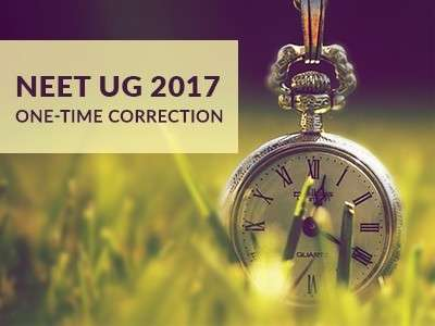 NEET-UG 2017 Correction Window Now Open