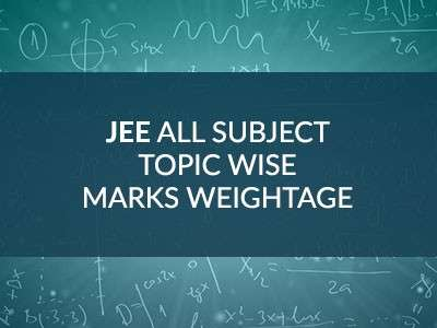 JEE Main & Advanced Important Topics & Subject Wise Marks Weightage for Physics, Chemistry & Maths Syllabus