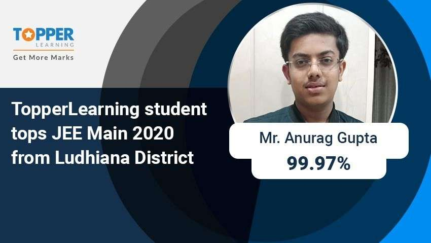 TopperLearning student tops JEE Main 2020 from Ludhiana District