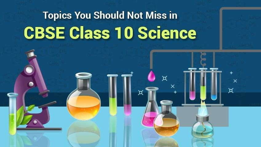 Topics You Should Not Miss in CBSE Class 10 Science