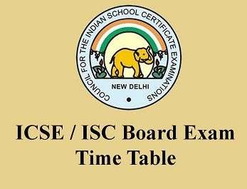 CISCE Board announces ICSE and ISC 2016 Exam Time Table