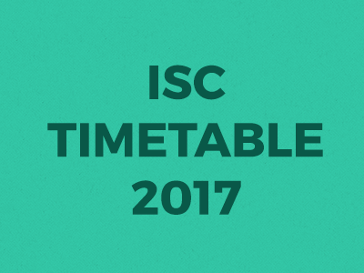 Revised ISC 2017 timetable out!