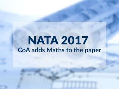 Changes in NATA Paper Pattern 2017: Maths Added to Part A of the Exam