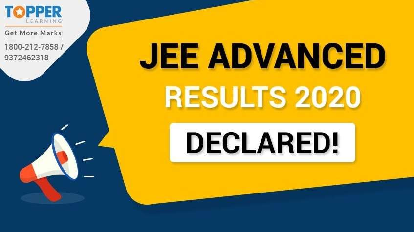 JEE Advanced Result 2020 Declared!