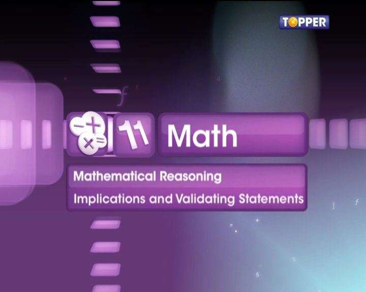 Validating statements in mathematical reasoning examples