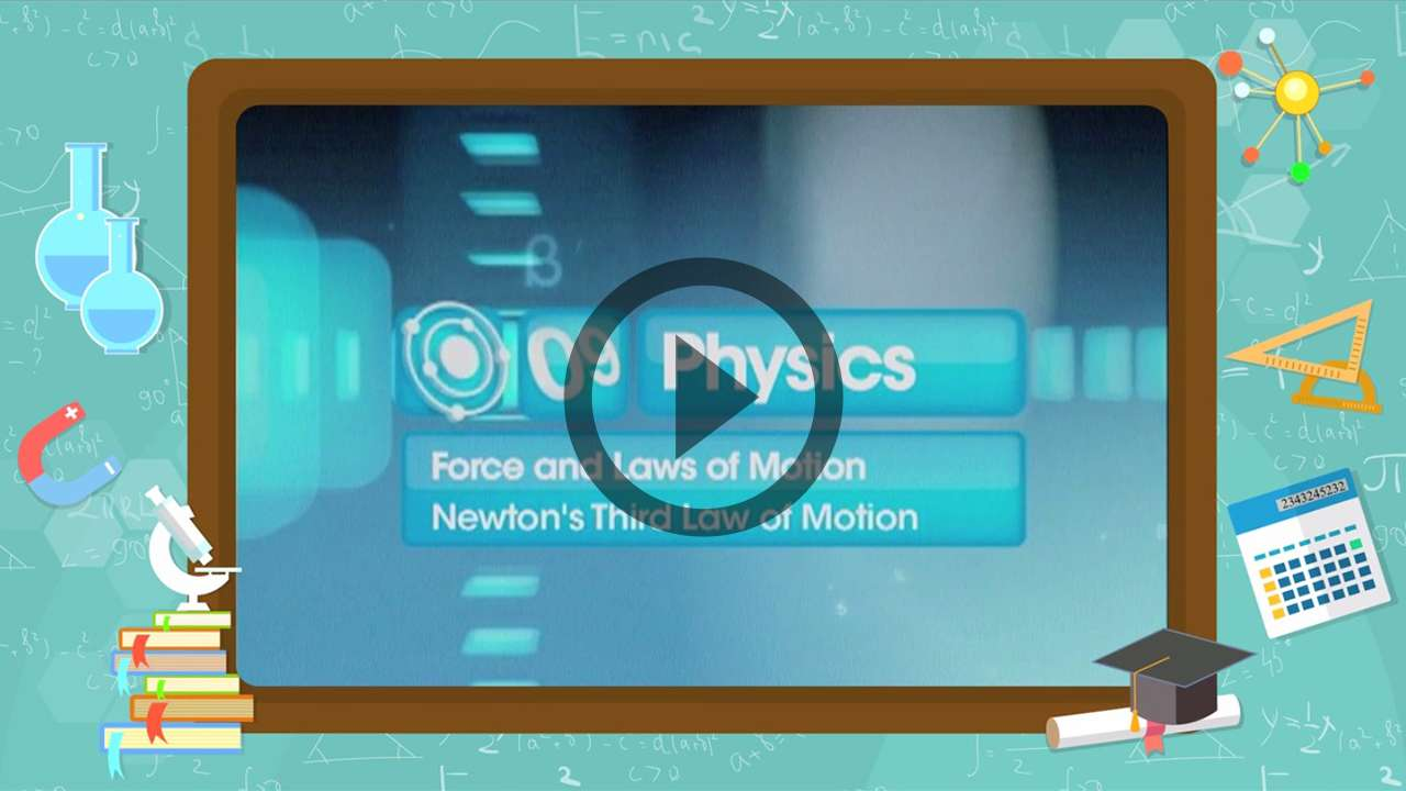 Force and Laws of Motion - Newton's Third Law of Motion - Part 2