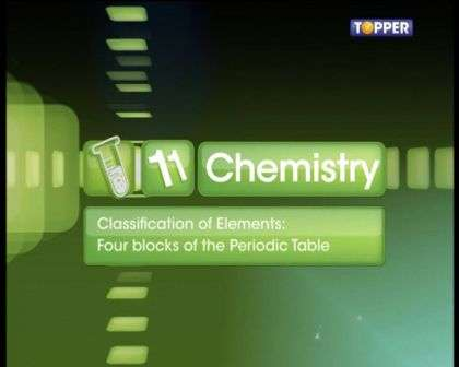 Periodic Classification of Elements - Four Blocks in the Periodic Table - Part 1
