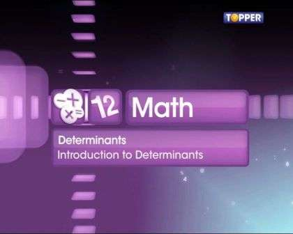 Concepts on determinants -