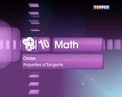 Concepts and problem solving on tangents drawn from an external point to a circle -