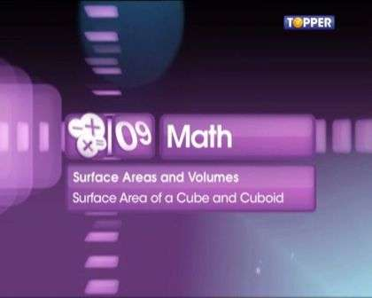Surface Area of a Cube and Cuboid -