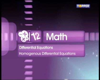 Homogenous Differential Equations
