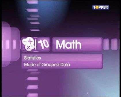 Mode of Grouped Data -