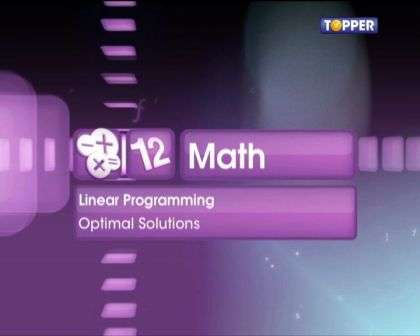 Solving linear programming problems by graphical method -