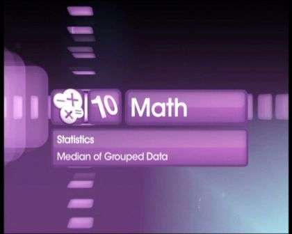 About median of grouped data -
