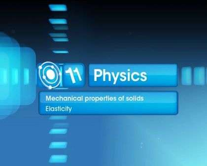 Mechanical Properties of Solids - Elasticity - Part 1
