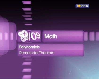 Remainder Theorem -