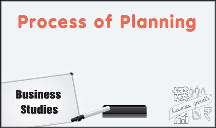 Process of Planning -