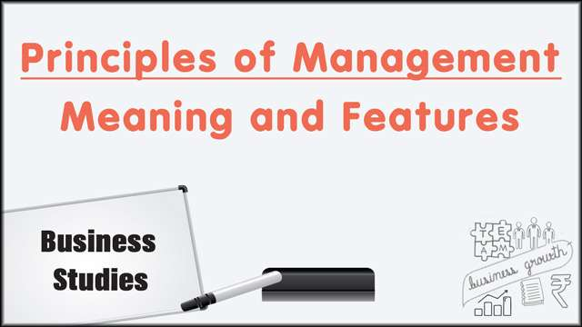 Principles of Management: Meaning and Features -