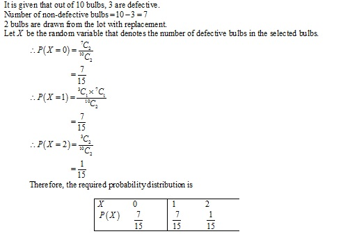Rd-sharma Solutions Cbse Class 12-science Mathematics Chapter - Mean And Variance Of A Random Variable