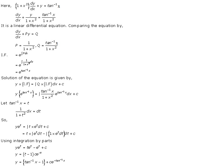 Rd-sharma Solutions Cbse Class 12-science Mathematics Chapter - Differential Equations