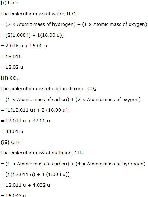 Chapter 1 Some Basic Concepts of Chemistry - NCERT Solutions