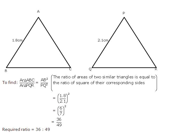 Frank Solutions Icse Class 10 Mathematics Chapter - Similarity