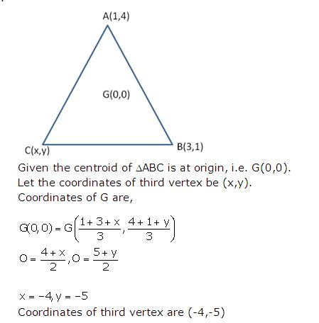 Frank Solutions Icse Class 10 Mathematics Chapter - Distance And Section Formulae